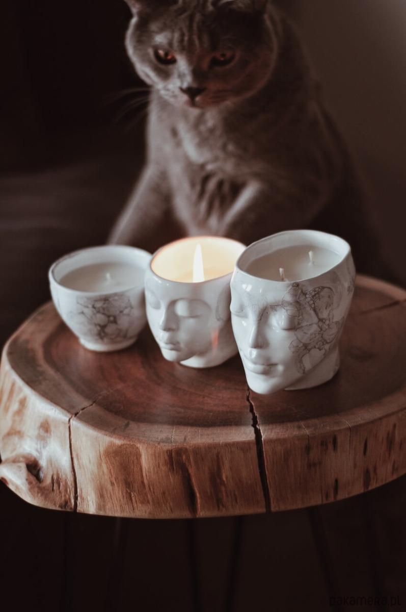 świeczka ceramiczna