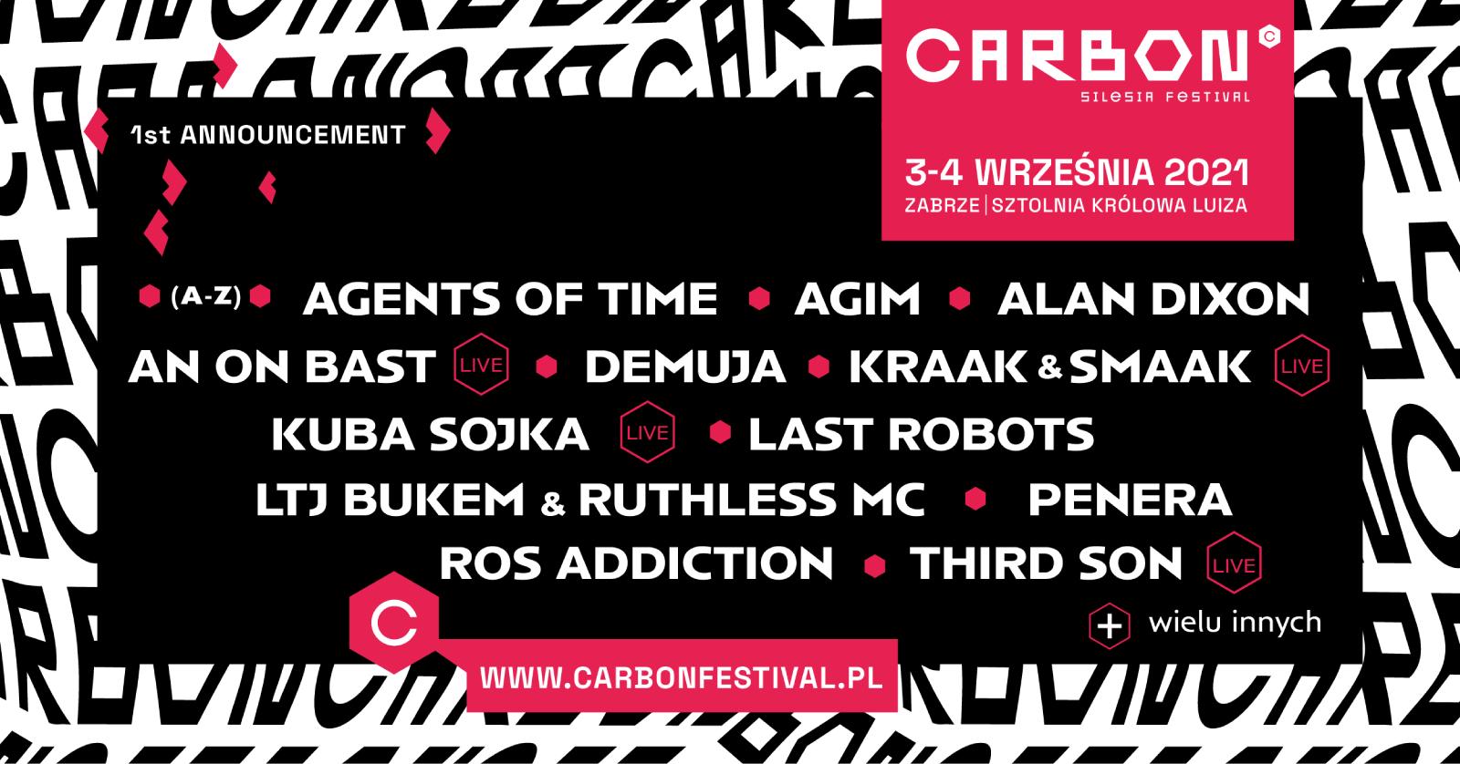 LINEUP CARBON Silesia Festival